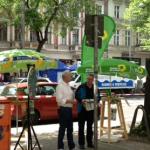 Bündnisgrüne bei der Friedrichshagener Demo