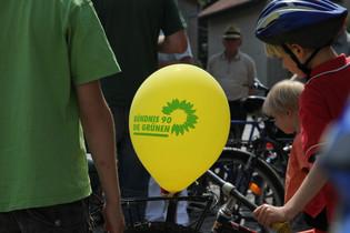 gruener luftballon